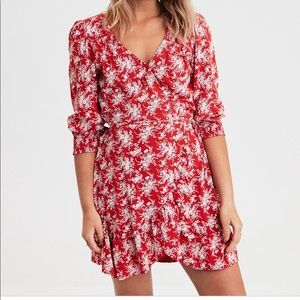 American eagle long sleeve wrap dress